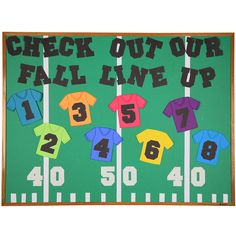 Create this football-themed back-to-school bulletin board using dies from AccuCut. Movie Bulletin Boards, Football Bulletin Boards, Summer Bulletin Boards, Birthday Bulletin Boards, Back To School Bulletin Boards, Preschool Bulletin Boards, Bullentin Boards, Preschool Classroom, Fall Classroom Door