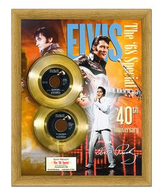Look at this Elvis Presley 'The '68 Special' Gold 45 Wall Art on #zulily today!