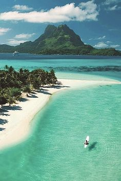 "Bora Bora, Paradisiacal Island in The French Polynesia, called ""The Pearl of the Pacific""  Visited in 1985."