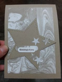 teeny tiny sentiments- Marbled Background -Stampin' Up! Stampin Up, Marble Board, Shaving Cream, Card Designs, Paper Design, Paper Crafting, Thank You Cards, Holiday Cards, Card Ideas
