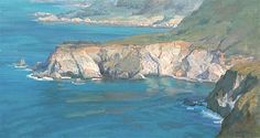 Coastal Rock Patterns 16 x 30 oil/linen Private Collection