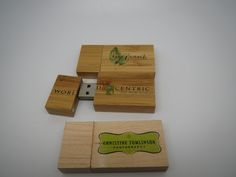 Full Color Logos Printed On Wooden USB Flash Drives