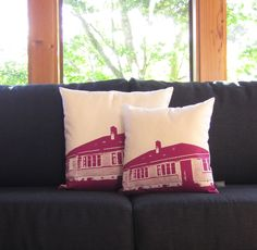 State House Cushion Small Mixed Berry | PaperRoom