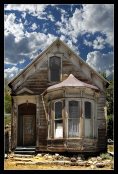 """Old House in *Silver City Ghost Town, Nevada*"" -- [Photograph by Steve Bingham]'h4d-108.2013'"