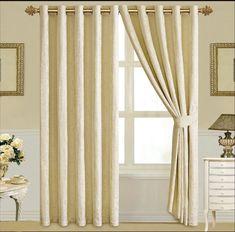 Závěsy Zarina 228 x 228 cm krémové - kovová oka Quilted Bedspreads, Curtain Tie Backs, Bed Spreads, Curtains, Luxury, King, Design, Home Decor, Houses