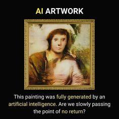 The painting is fully generated by an AI Random Science Facts, Fun Facts, Life Changing Quotes, Staying Positive, Knowledge, Positivity, Motivation, Memes, Bobs