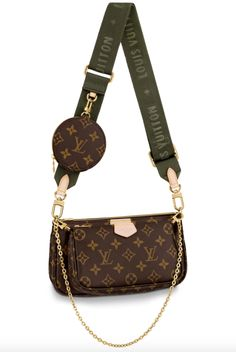Get the trendiest Cross Body Bag of the season! The Louis Vuitton Pochette Accessoires Multi (Full Set) Kaki Monogram Canvas Cross Body Bag is a top 10 member favorite on Tradesy. Save on yours before they are sold out! Louis Vuitton Handbags Crossbody, Pochette Louis Vuitton, Louis Vuitton Crossbody Bag, Louis Vuitton Monogram, Louise Vuitton Handbags, Louis Vuitton Shoulder Bag, Lv Handbags, Luxury Purses, Luxury Bags