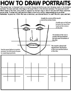 Drawing Portraits - How To Draw Portraits Worksheet-formative assessment and practice Discover The Secrets Of Drawing Realistic Pencil Portraits.Let Me Show You How You Too Can Draw Realistic Pencil Portraits With My Truly Step-by-Step Guide. You Draw, Learn To Draw, Drawing Lessons, Art Lessons, Drawing Tips, Zentangle, Art Handouts, Art Worksheets, Foto Art