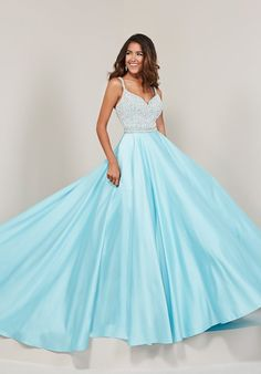 50d08035ca2 Check out the deal on Tiffany Designs 16367 Beaded Top Prom Dress at French  Novelty Beaded