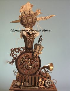 Steampunk wedding cake by Christopher Garrens Cakes