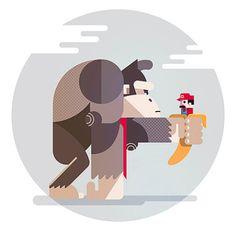 Donkey Kong PrintCreated by Ricardo Polo 11.7 x 16.5 prints...