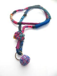 Collar de tela - Necklace Fabric Daniela Guzmán