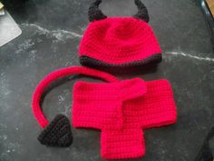 SALE Halloween Special-Baby Little Devil Hat & diaper cover  Size 0 to 3 months or ANY size to 18mth on Etsy, $17.95