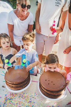joint party - each kid gets their own cake and candles!!