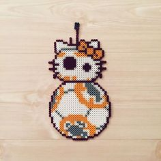 BB-8 Kitty - Star Wars (The Force Awakens) perler beads by kittybeads