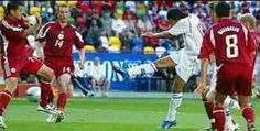 Czech Rep 2 Latvia 1 in 2004 in Aveiro. Milan Baros scored to make it 1-1 on 73 minutes in Group D at Euro 2004.