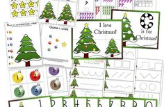 Preschool Christmas Activities  {free printables}