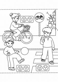 Art Worksheets, Worksheets For Kids, Safety Kit, 4 Year Olds, Coloring For Kids, Kids Education, Yaya Geçidi, Transportation, Homeschool