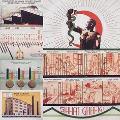 Erken Cumhuriyet'te bilgi grafikleri #tasarımtarihi #grafiktasarımtarihi #grafik #infographic #infografik @studioxistanbul