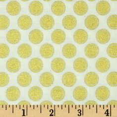 Riley Blake Postcard for Santa Sparkle Dots Gold Fabric By The Yard -- Awesome products selected by Anna Churchill