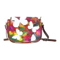 """Sac """"White butterflies"""" White Butterfly, Saddle Bags, Sneakers, Butterflies, Creations, Collection, Fashion, Raincoat, Waterproof Fabric"""