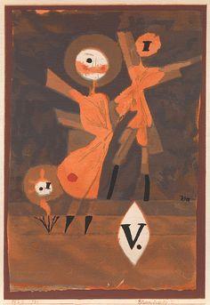 Collection Online   Paul Klee. Flower Family V (Blumenfamilie V). 1922 - Guggenheim Museum