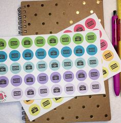 Paid payday money planner stickers ECLP filofax by InnaChinaCrafts