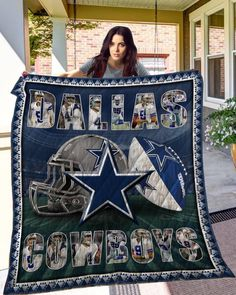 Football Bedding, Cowboy Quilt, Fathers Day Photo, Silky Touch, Custom Quilts, Queen, Blanket Sizes, Decorative Throws, Pick One