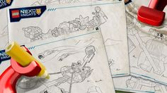 LEGO NEXO KNIGHTS Products coloring sheets. :)