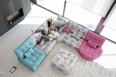 Mah Jong style modern Arianne Love sectional by Fama. Classic piece of contemporary furniture and design. Endless possibilities and configurations. Modern Sectional, Sectional Sofa, Sofas, Couches, Pit Couch, Long Sofa, Modular Sofa, Decoration, Contemporary Furniture