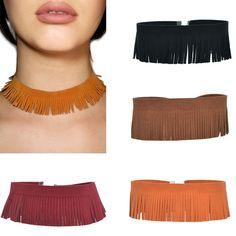 $1.59 - Fashion Necklace Black Leather Choker Flannelette Necklace For Women Jewelry #ebay #Fashion