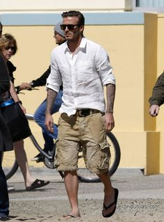 DB does messy casual. Günün Stili: David Beckham