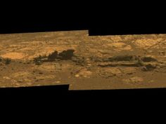 The new photo by Opportunity is actually a mosaic of four images taken by a microscope-like imager on its robotic arm, and then stitched together like puzzle pieces by scientists on Earth.