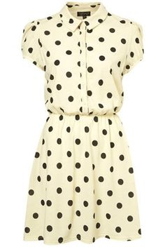 Cream Spot Shirt Dress - New In This Week - New In - Topshop USA - StyleSays