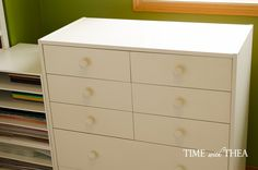 Create A Hidden Vertical Space To Store Large Size Paper
