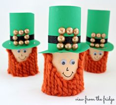 Toilet Paper Leprechauns     View From The Fridge