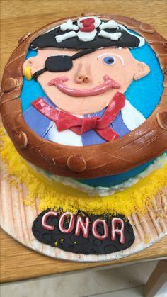 Pirate fondant birthday cake