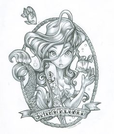 Love the idea of Disney princesses with tattoos.  Maybe not so busty though.  :)