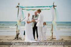 Aqua Beach Wedding | Chuppah | Beach Arbor