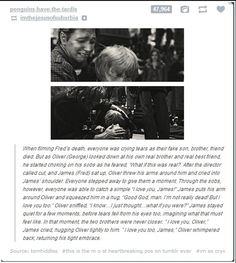 Filming Fred's Death in Harry Potter omg :'(