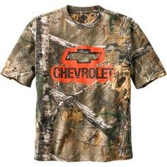 Men's Trucked Up Chevy Short Sleeve #RealTree Camo T-Shirt. www.deergear.com #LegendaryWhitetails