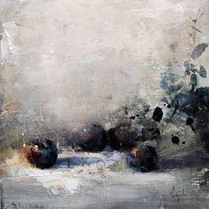11. Unas ciruelas Oleo/lienzo 46 x 46 cm.