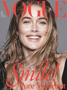 Don't Worry, Be Happy – Vogue Germany taps three top models to cover its March 2013 edition. Doutzen Kroes, Saskia de Brauw and Kati Nescher show off their best smiles in a trio of covers photographed by Daniel Jackson.