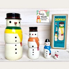 A personal favorite from my Etsy shop https://www.etsy.com/listing/558563542/japanese-shackman-snowman-nesting-doll