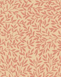 Tapet Standen Beige/Brick/Red från William Morris & Co