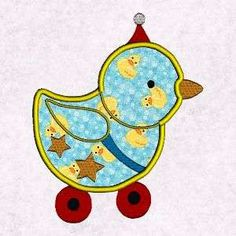 Free Embroidery Design: Fancy Baby Applique