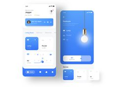 Smart Home APP designed by Jagger Lao for AGT. Connect with them on Dribbble; Web Design, App Ui Design, Interface Design, Dashboard Design, Flat Design, User Interface, Smart Home Design, Modern House Design, Conception D'applications