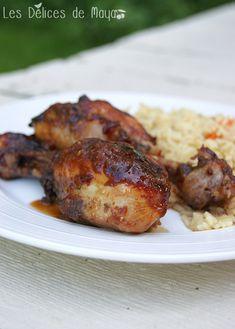 Les délices de Maya: Pilons de poulet à Suzan C'est Bon, Tandoori Chicken, Maya, Ethnic Recipes, Super Bowl, Food, Chicken Breasts, Meat, Main Course Dishes