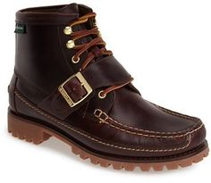 $164, Eastland Silverado 1955 Leather Moc Toe Boot. Sold by Nordstrom. Click for more info: https://lookastic.com/men/shop_items/375621/redirect