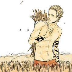 Mark Blackthorn, you will meet him in CoHF, which is only  a month and a half till CoHF.  Note the pointy ears! Mark is part-faerie, it's one of the most interesting things about his story.